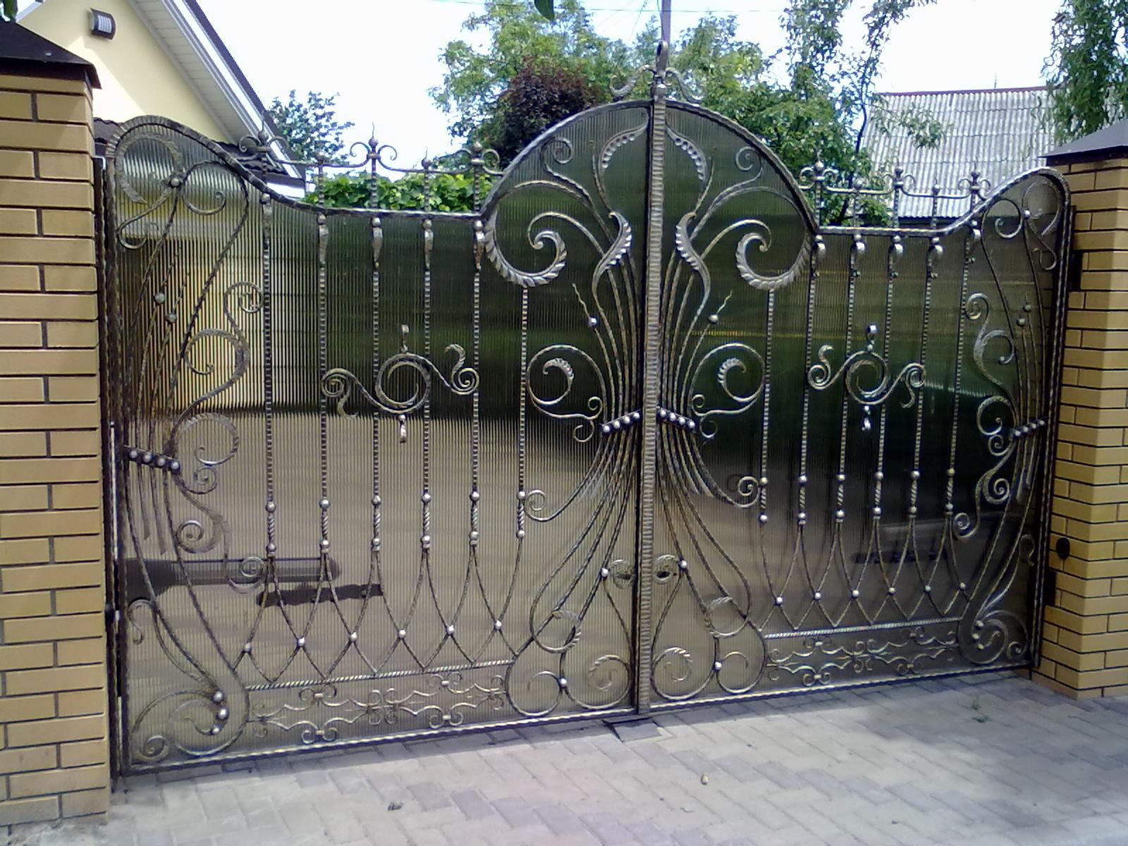 Кованые ворота калитки заборы