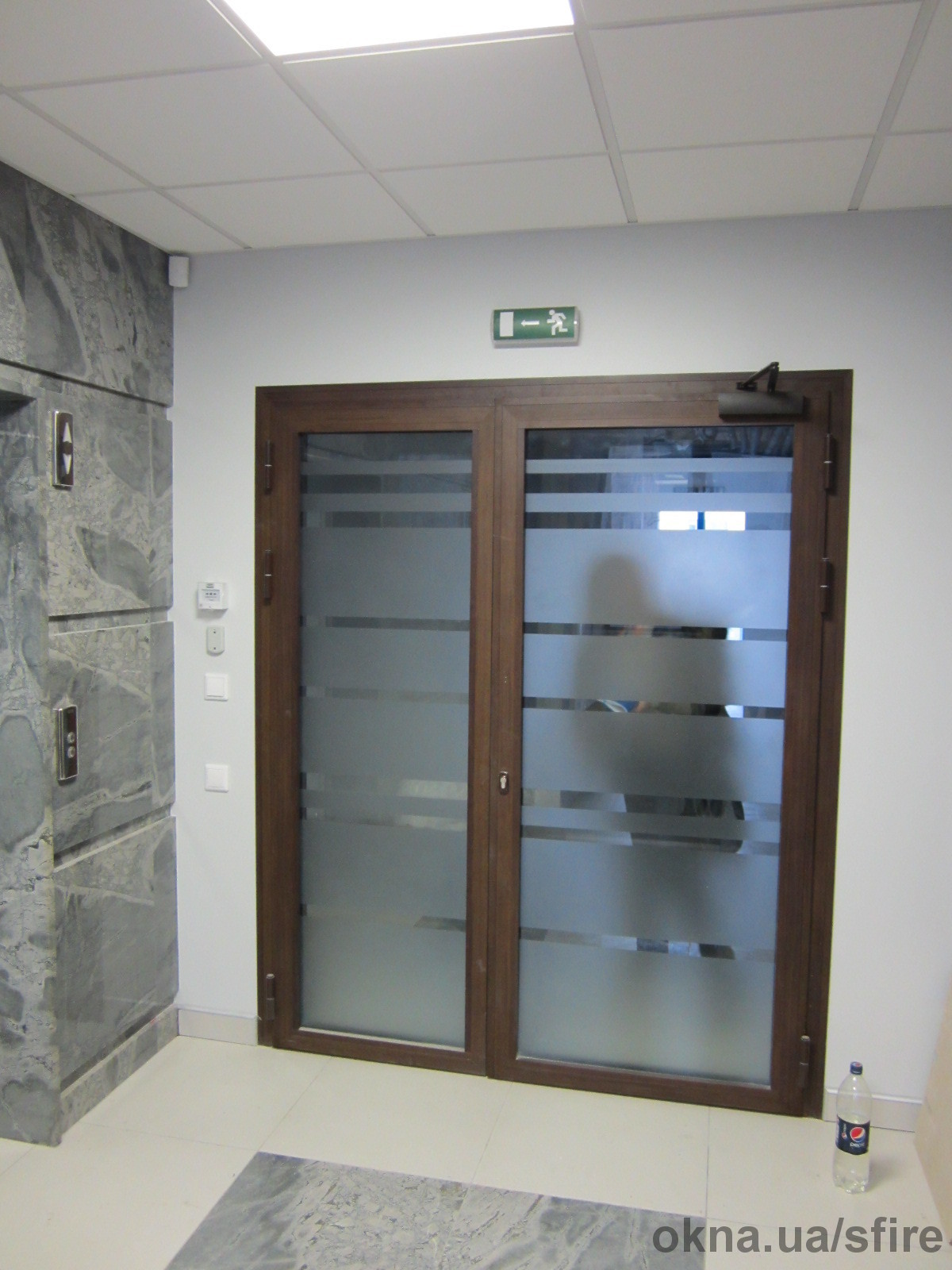 двери металлические остекленные наружные распашные