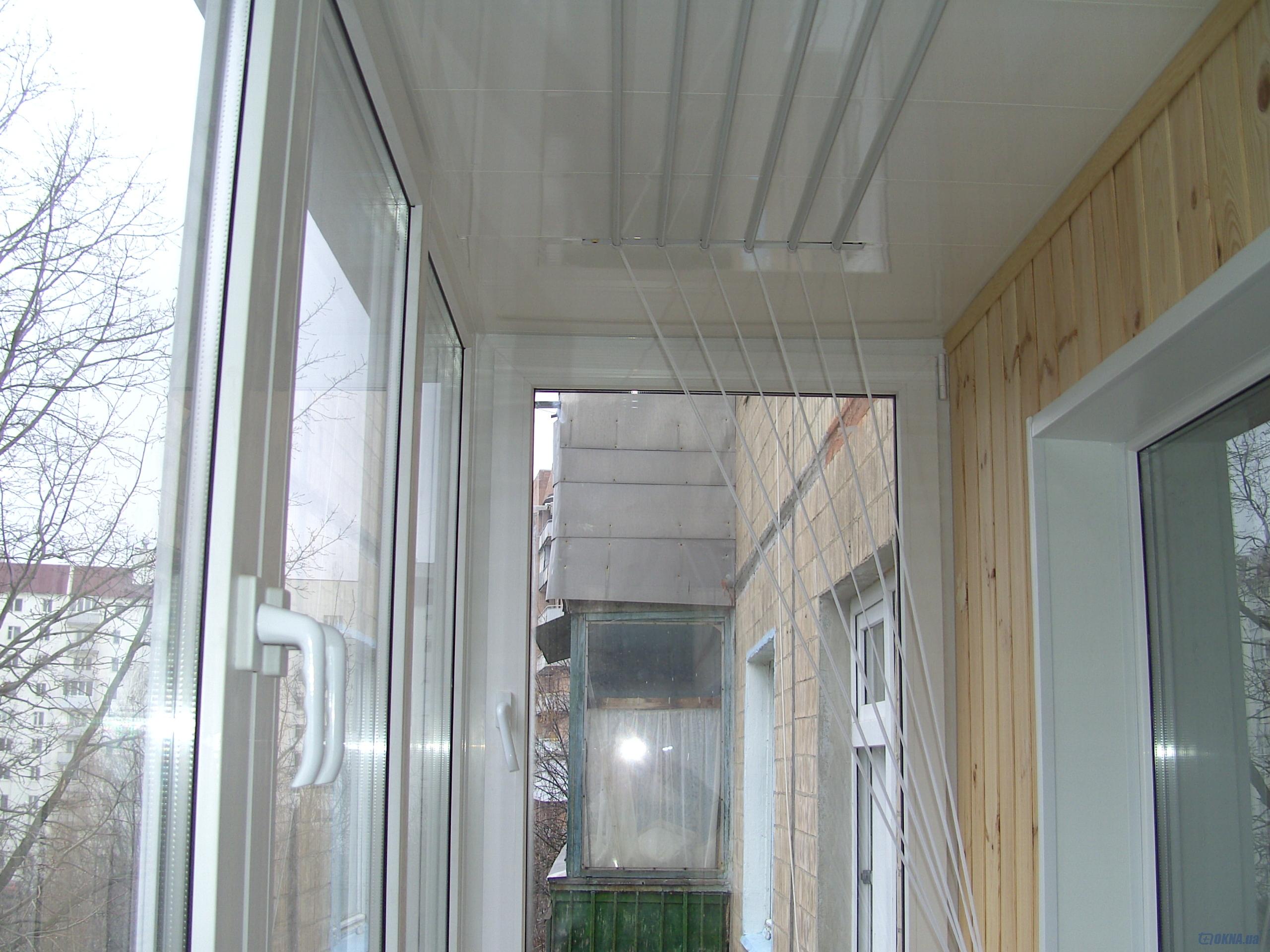 """Внутренняя отделка балконов и лоджий от компании """"оконный ст."""