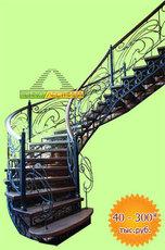 Лестницы межэтажные на металлическом каркасе.