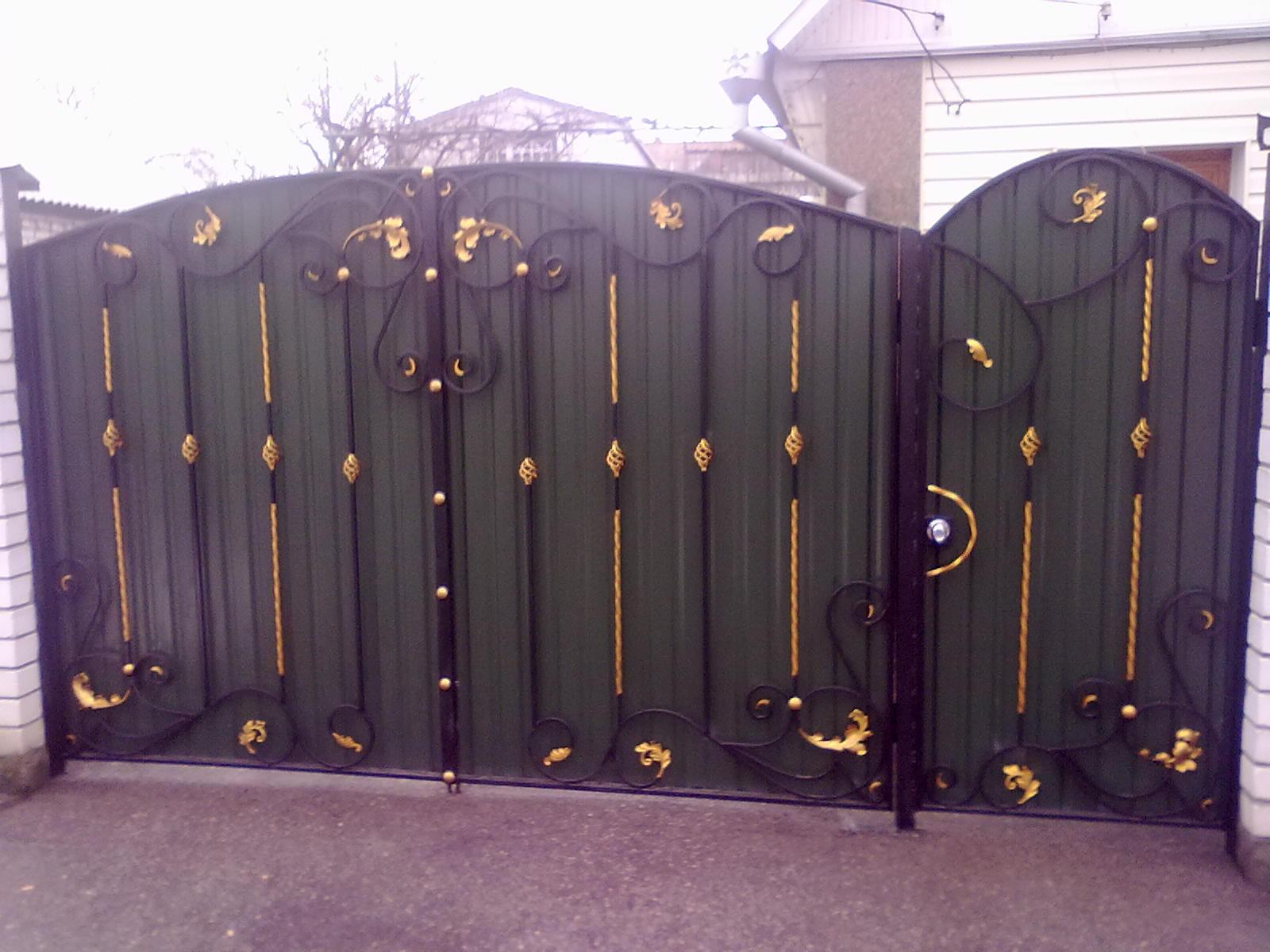 Двухцветные ворота частный дом купить забор ижевск