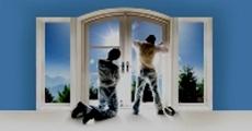 Поклейка солнцезащитной наружной пленки на окна в Киеве и об