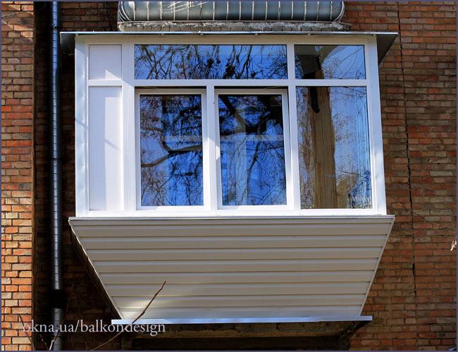 Обшивка балкона сайдингом хрущевка..