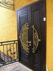 Двері вхідні броньовані від виробника+скло+ковка