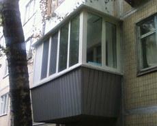 Установка окон и дверей, Утепление и обшивка балкона.