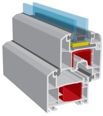 Металлопластиковые окна КВЕ Баланс, монтажная глубина 70 мм.
