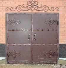 Кованые ворота гаражные