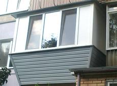 Окна на балкон, отделка балкона вагонкой, вынос и утепление.