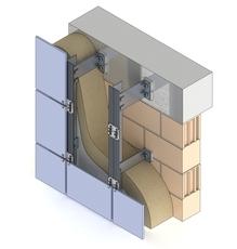 Подсистема для навесного вентилируемого фасада