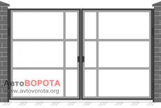 Ворота АвтоВорота Р-000 Р — без зашивки