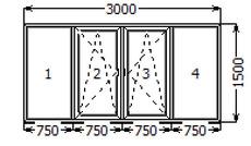 4 Балкона 1500х3000