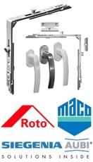 Комплектующие для пластиковых окон/дверей Roto, Siegenia Aub