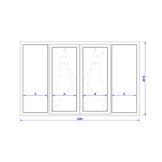 Балконное окно 3280х2015