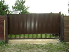 Ворота металлические, Откатные ворота