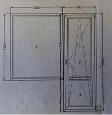 Нужно окно и дверь на балкон