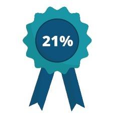 Наши цены ниже на 21% от среднерыночных.