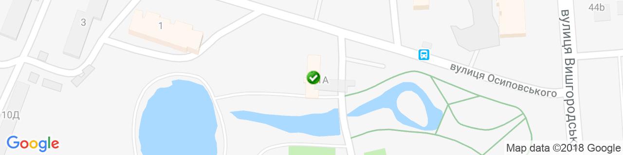 Карта об'єктів компанії Аереко