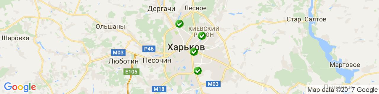 Карта об'єктів компанії АЛ-ХЕККА