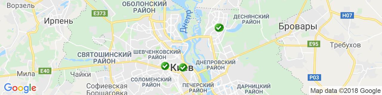 Карта объектов компании АлюПластика