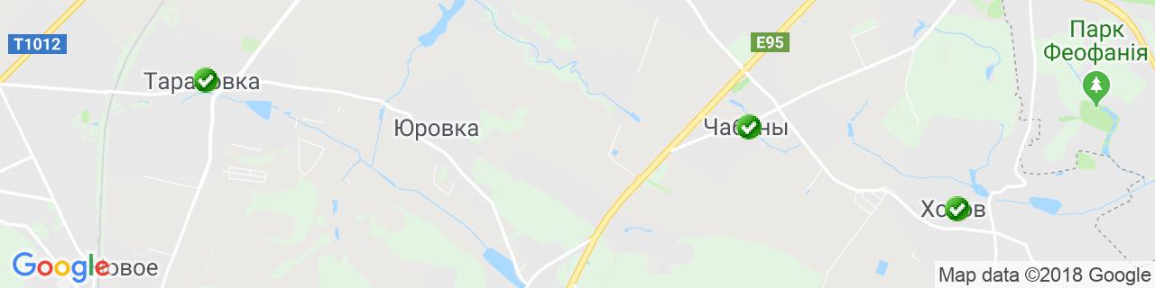 Карта объектов компании Альянс Строй