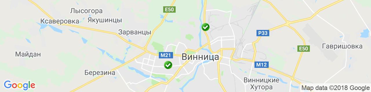 Карта объектов компании ALTEST