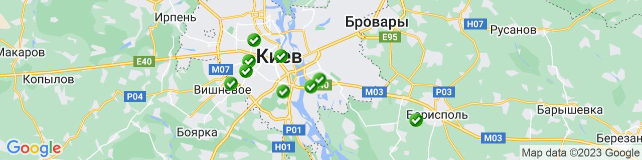 Карта объектов компании ДАК