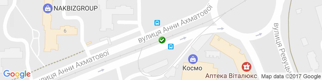 Карта объектов компании Алюкон