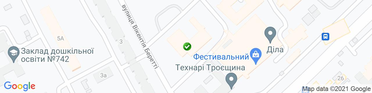 Карта объектов компании ТМ Алюпластика