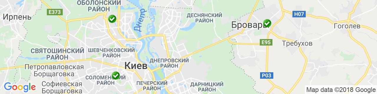 Карта объектов компании АРКА-ПЛЮС