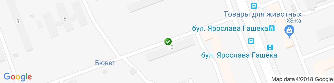 Карта объектов компании Artex
