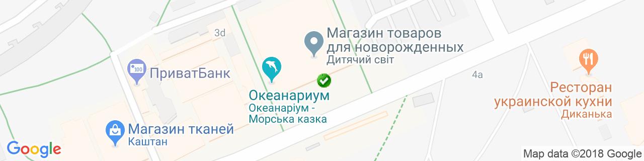 Карта объектов компании Балкон - Дизайн