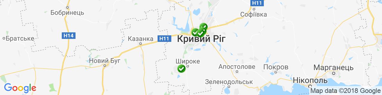 Карта об'єктів компанії Бердников Д.О.