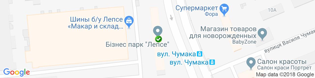 Карта объектов компании БК ПЛАСТ
