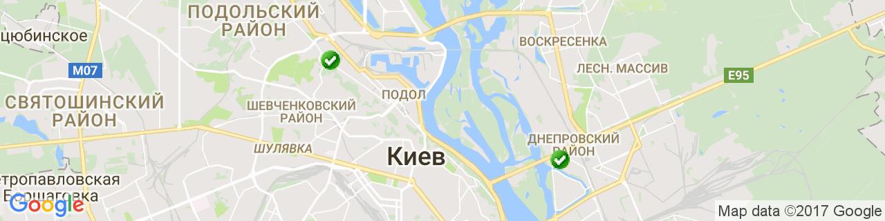 Карта объектов компании Креатив-Буд