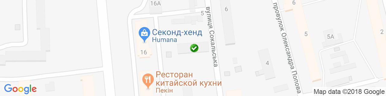 Карта объектов компании Dalina