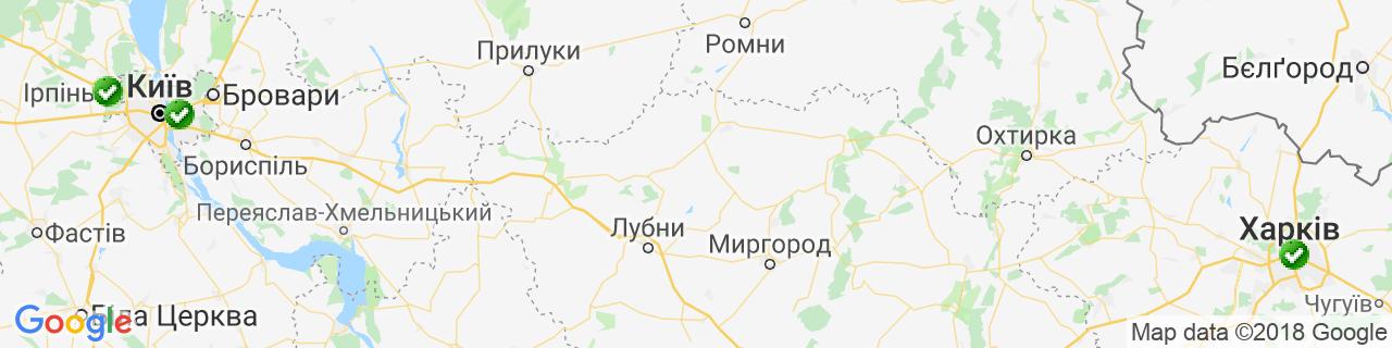 Карта об'єктів компанії DoorWooD