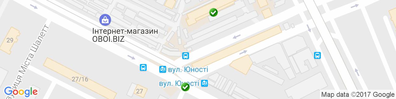 Карта объектов компании Двери в дом