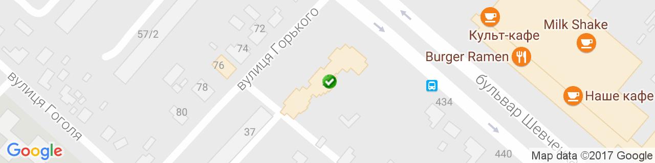 Карта объектов компании Эколюкс