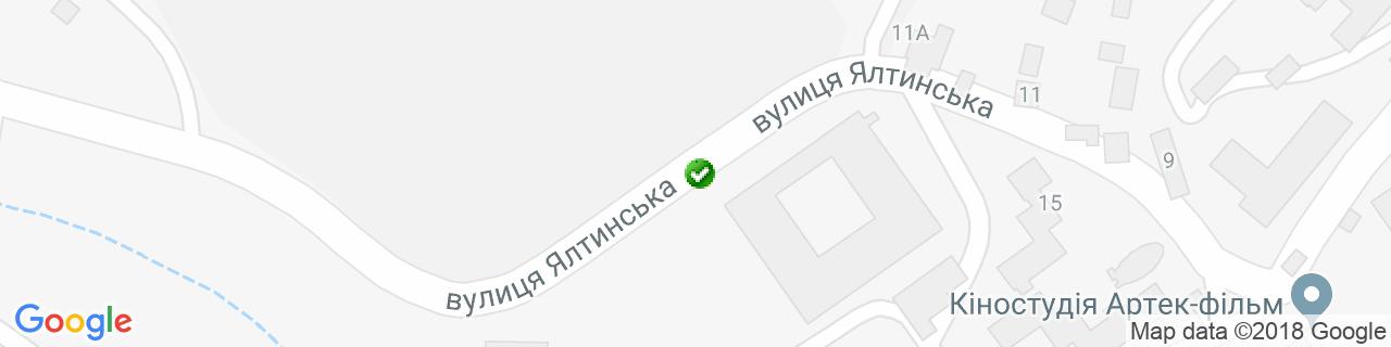 Карта объектов компании Эксклюзив