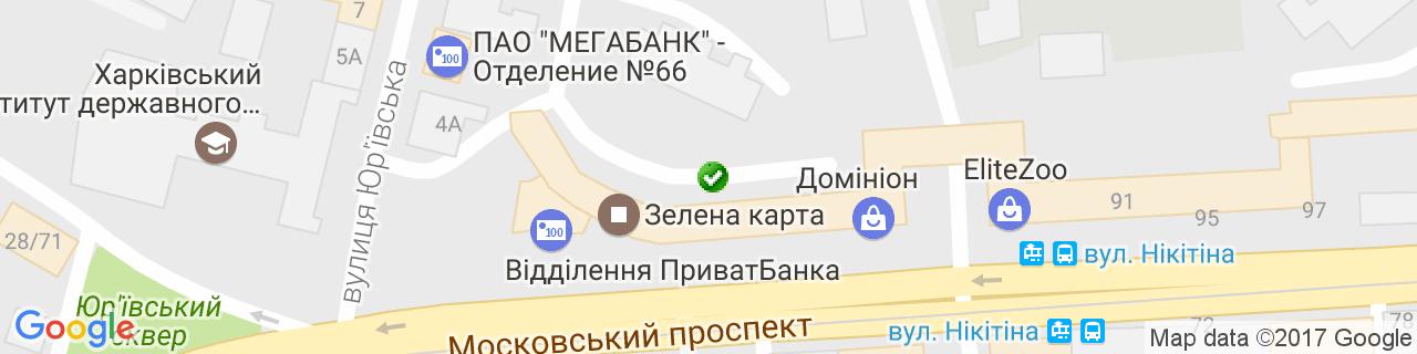 Карта об'єктів компанії Єлецька Т.Л.
