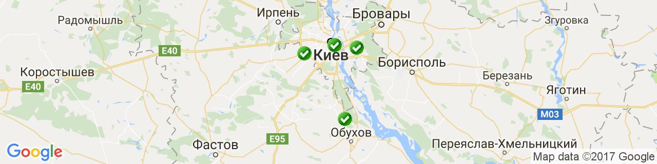 Карта объектов компании ЭЛВИН