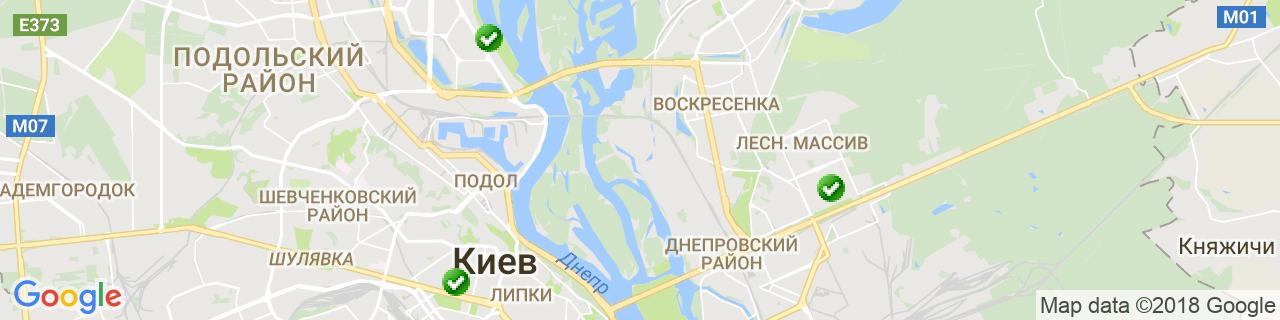 Карта объектов компании Энерго-Окна