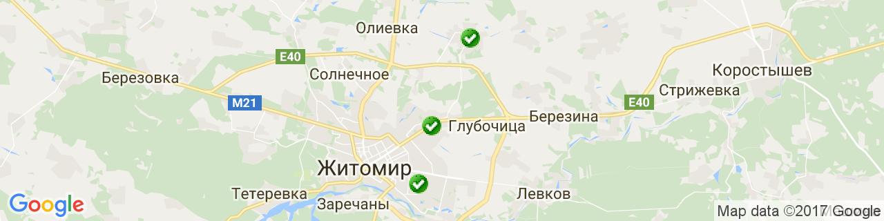 Карта объектов компании EnSave