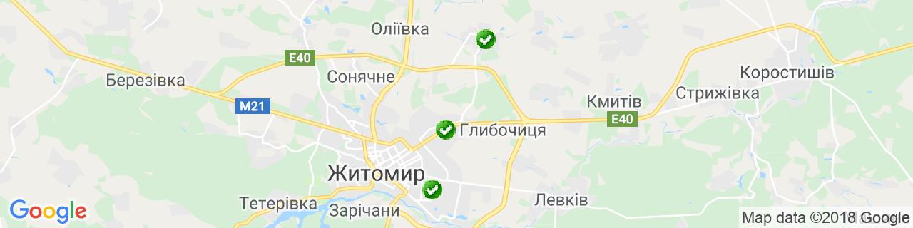 Карта об'єктів компанії EnSave