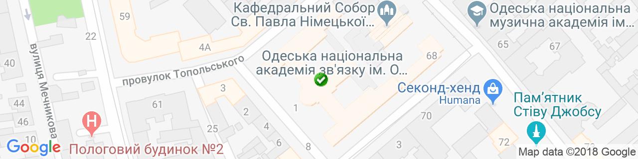 Карта об'єктів компанії СК Євробуд