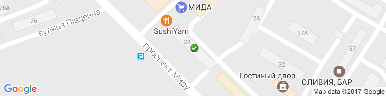 Карта объектов компании Формат