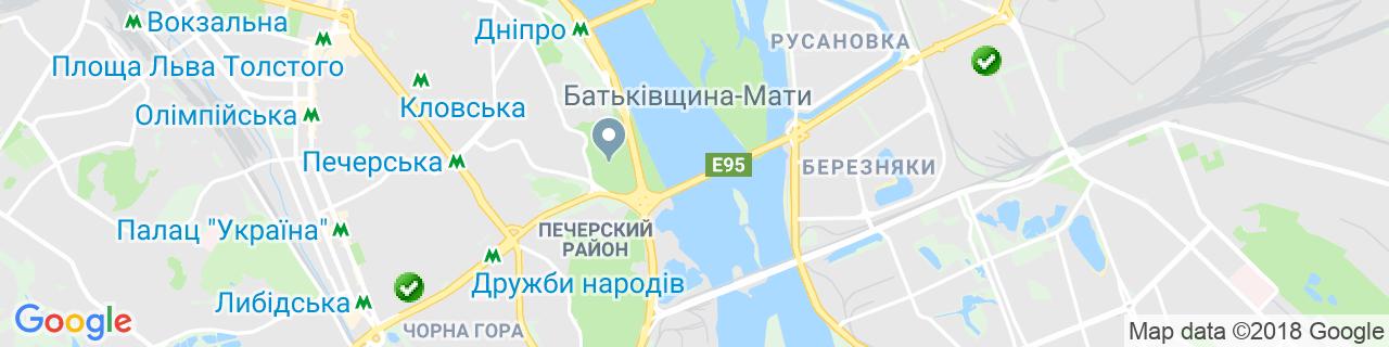 Карта объектов компании Глас Трёш Киев