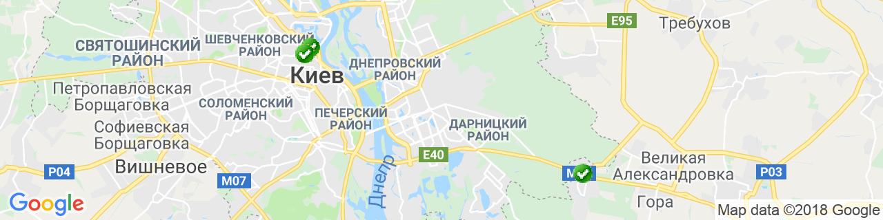 Карта объектов компании Гончаров Д.В.