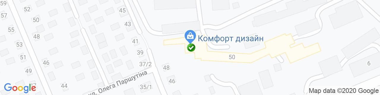 Карта объектов компании Интерресурсы