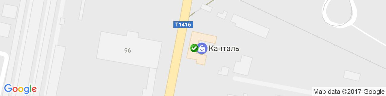 Карта объектов компании КАНТАЛЬ-ЛЬВІВ